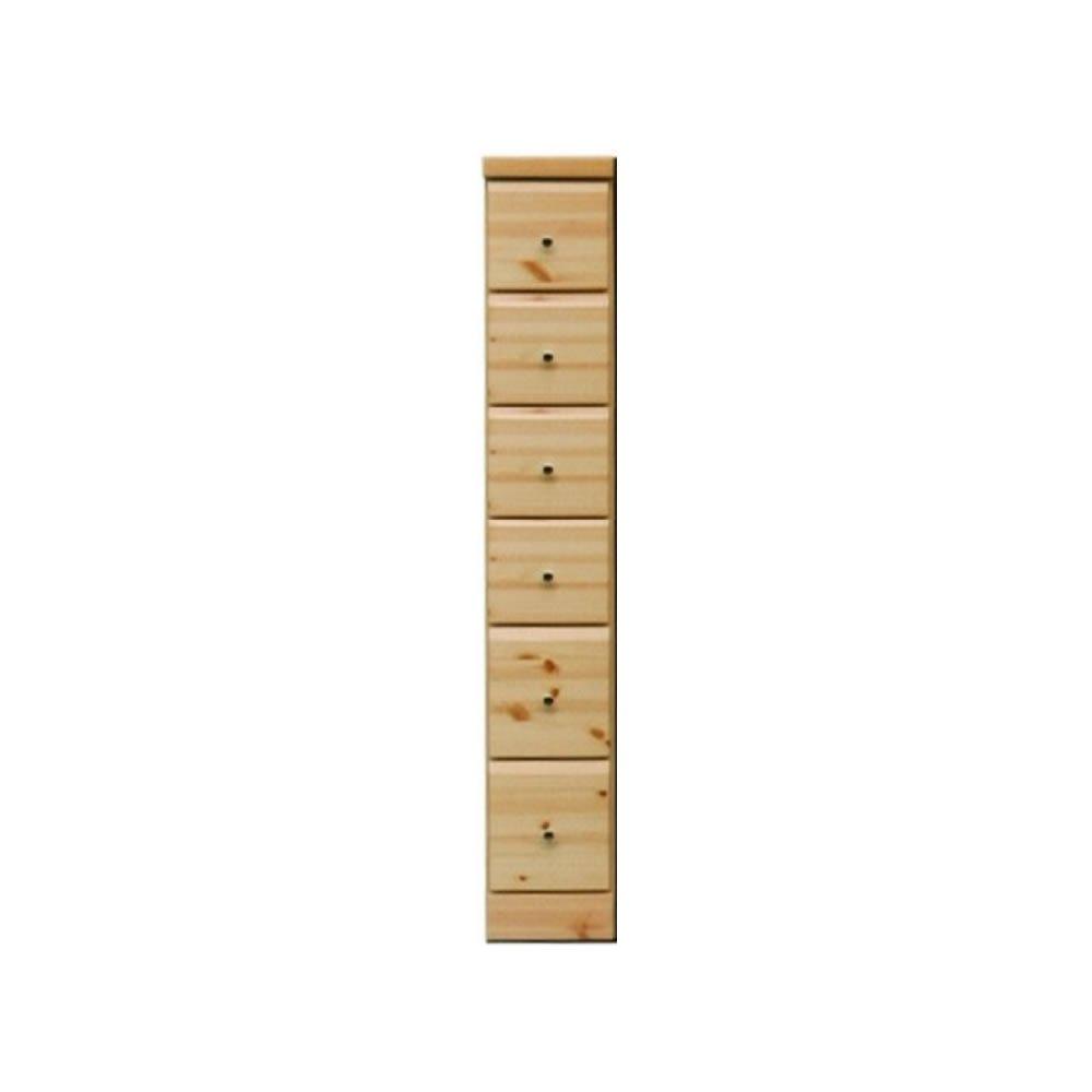 アルファタカバ すき間チェスト(隙間収納) シリーズ 20cm幅6段 ピースパイン B006WY7QWSピースパイン