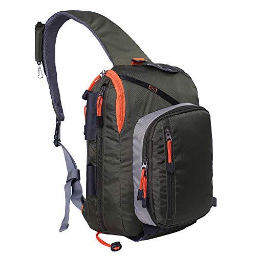 Kylebooker Fishing Sling Bag Chest Shoulder Backpack Crossbody Bag Lightweight
