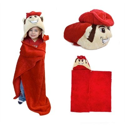 Comfy Critters Stuffed Animal Blanket - College Mascot, University of Nebraska 'Herbie Husker' - Kids Huggable Pillow and Blanket Perfect for The Big Game, Tailgating, Pretend Play, and Much More by Comfy Critters