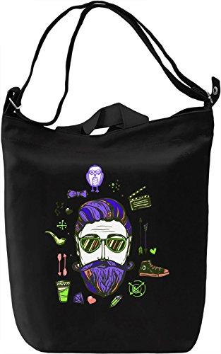 True Hipster Borsa Giornaliera Canvas Canvas Day Bag| 100% Premium Cotton Canvas| DTG Printing|
