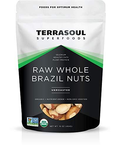 Terrasoul Superfoods Raw Brazil Nuts (Organic), 1 Pound