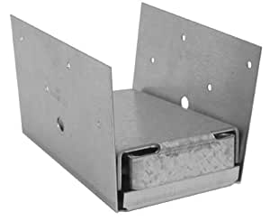 USP Structural Connectors PA46E-TZ G185-Triple Zinc Galvanized 2-Sided Post Anchor, 4 by 6