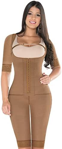 Equilibrium - Post Op Compression Garment - One Piece with Sleeves - Open Bust - C9002