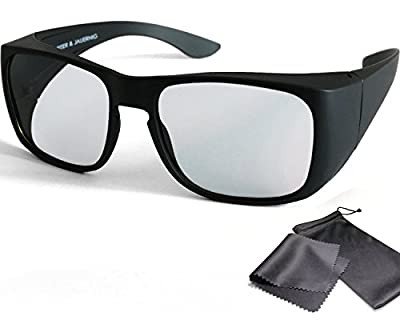 3D Overglasses Passive RealD Polarized Fits Over Prescription Glasses For 3D Cinema & 3D TV from LG Cinema 3D Philips Easy 3D Vizio Theatre 3D Technology TV from Sony Toshiba Panasonic Grundig Hisense