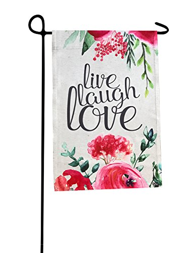 Port North Live Laugh Love Double Sided Outdoor Garden - Love Port