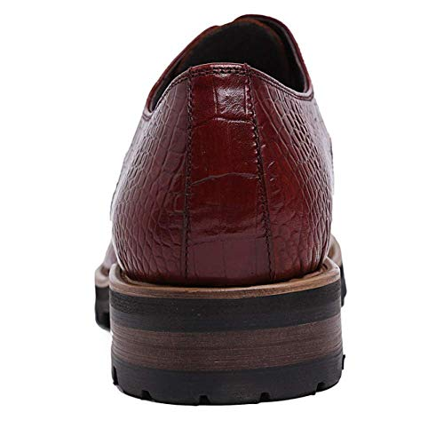 da Red 37 brown Uomo Comfort Scarpe Business XYCSZQ Pelle in Gomma Traspirante Pizzo 7Bvw5xOqn