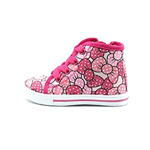 Blue burry New Cute Infant Baby & Toddler Girls Shoes Sneakers JR-82F (Size 5, Fuch Bow)