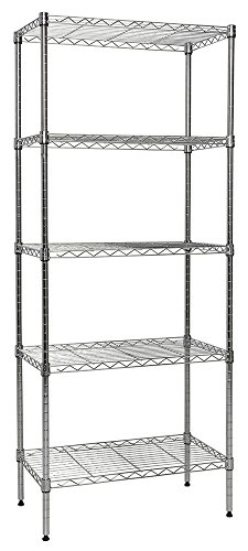 "Apollo Hardware Chrome 5-Shelf Wire Shelving 24""x14""x60"" (Chrome)"
