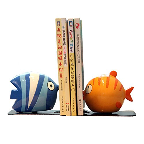 Eastyle Cute Fish Bookend Cartoon Child Kids Book Bookcase Storage
