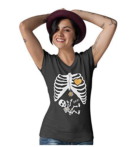 Halloween - Pregnant Skeleton Xray Costume Women T-Shirt XX-Large -