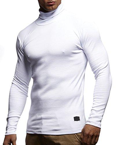 Roulé Wilusa Homme Blanc Uni Pull Col qn86xFrgnw