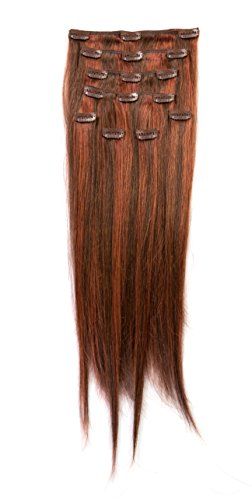 """Donna Bella Full Head Human Clip-In Hair Extensions 20"""" Leng"""