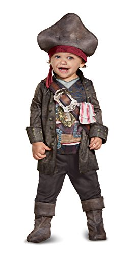 Disney POTC5 Captain Jack Sparrow Classic Infant Costume,  Multicolor,  12-18 Months
