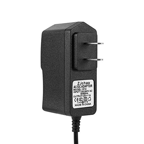 SolUptanisu AC 100-240V DC 12V 1A Power Supply Adapter Led Light Travel Charger US Plug Regulated Power for CCTV Cameras Wireless Router Household Electronics,Black (1a Regulated Power Supply)