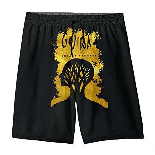 YOHHOY Gojira L'enfant Sauvage Boys Swim Trunks - Quick Dry Boys Swim Shorts for Big Boys White