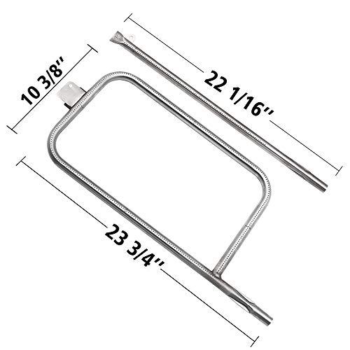SHINESTAR 65032 Replacement Burner for Weber Q3000 Q3200 Burner Tube Set for Weber Q300 Q320 Burner Tube 60036, Stainless Steel Tube Burners for Weber Q Series Grill Burner Parts 13122 (SR057A) (Weber Q320 Grill)