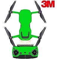 SopiGuard 3M Neon Green Precision Edge-to-Edge Coverage Vinyl Sticker Skin Controller 3 x Battery Wraps for DJI Mavic Air