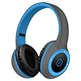 Wireless Bluetooth Headsets,WONFAST Over-ear Hifi Stereo Sound Music Sport Bluetooth 4.0 Headphones Build in Mic for iPhone/iPad/Android Support TF Card (Blue)