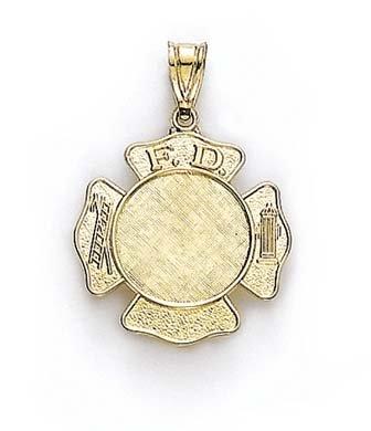 14Ct petit pendentif en forme de pompier-jewelryWeb écussons