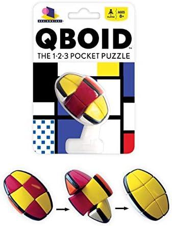 Brainwright QBoid The 1-2-3 Pocket Brain Teaser Puzzle Multicolor 5