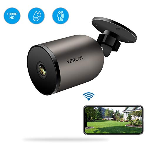 Veroyi Outdoor Security Camera Wireless 1080P WiFi IP Home Surveillance Camera with Two-Way Audio, IP66 Waterproof, FHD Night Vision, Motion Detection Compatible with iOS/Android Systems