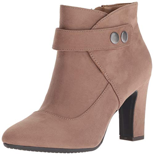 Aerosoles Women's TAG Team Ankle Boot, Taupe Fabric Suede, 5.5 M US