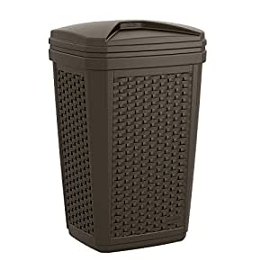 Suncast Trash Hideaway Outdoor Trash Can For Deck Or