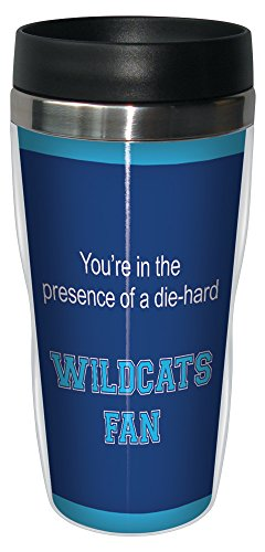 Tree-Free Greetings sg24598 Wildcats College Football Fan Sip 'N Go Stainless Steel Lined Travel Tumbler, 16-Ounce