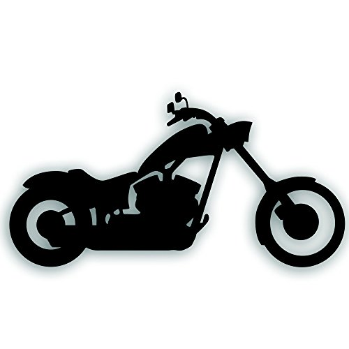 Solar Graphics USA Motorcycle Decal - Chopper Custom Big Dog Iron Horse Bobber for Your Bike, Tow Vehicle Or Trailer - 5 1/4 x 10 Inch in Black ()