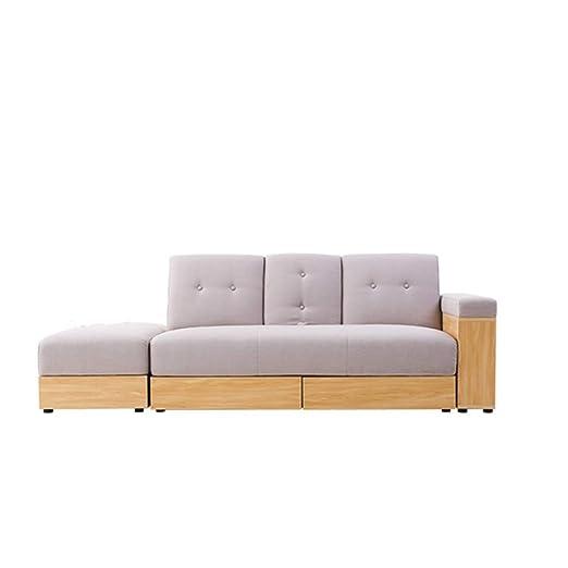 XIAOSUNSUN Muebles Sofá de Tela Apartamento pequeño y ...