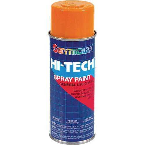 Hi-Tech Enamel 12 Oz. Safety Orange 6 Cans/Case