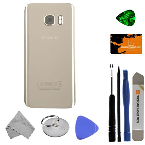 Housing (Rear) for Samsung Galaxy S7 (Silver Titanium) (OEM) with Tool Kit by Wholesale Gadget Parts