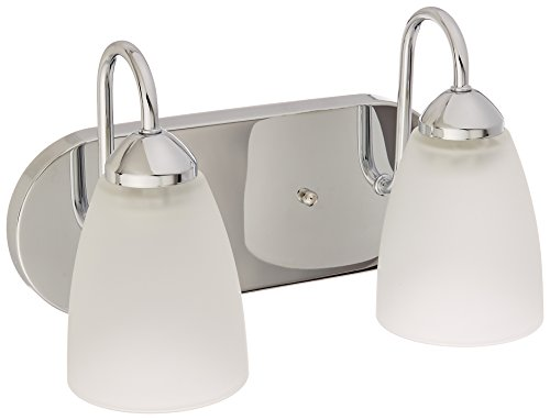 Progress Lighting P2707-15EBWB Gather 2-Lt. CFL Bath and Vanity Fixture with Etched glass shades