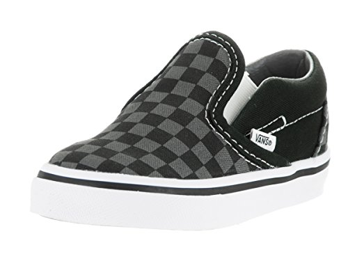 Vans Unisex Child Checkerboard Classic Slip-On - Black/Pewte