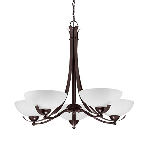 Langdon Mills 10500 Bordeau 5-Light Chandelier, Burnished Bronze