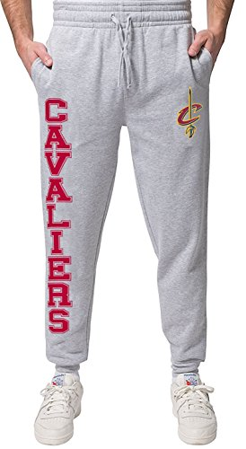 NBA Cleveland Cavaliers Men's Jogger Pants Active Basic Soft Terry Sweatpants, X-Large, Gray