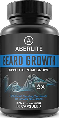 Beard Growth Supplements for Men - Natural and Essential Beard Vitamins for Facial Hair Growth | Fuller Beard and Fast Growth - Grow Mustache & Thickener Pills | Beard Grower for Patchy Beard