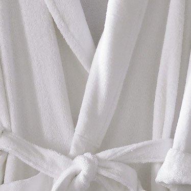 Anini Bamboo and Cotton Spa Bathrobe - White