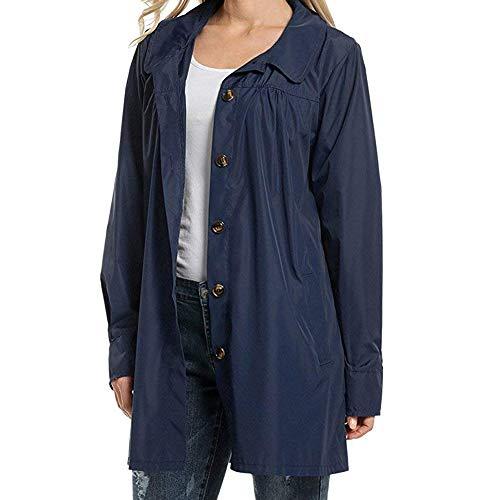 Impermeable Women Keephen con Marino Capuch Abrigo Azul Afxq6v