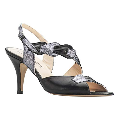 Sling Chic High Heel Multi Back Black Sandal Women's Sabrina wHqSExdCIw