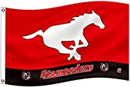 Calgary Stampeders Flag 3x5Ft CFL Logo Heavy Duty Shiny satin Banner New-Ideal Gift for the Loyal Sports Fan
