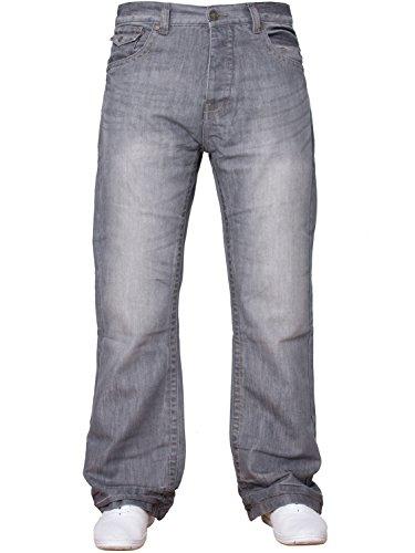Basic Denim Uomo Design Larga Da Taglie Grigio Svasato Nuovo Apt Tutte Di Svasati Blu Vita Gamba Jeans qwPEWEIXF
