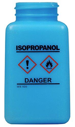 (MENDA 35736 ESD Safe durAstatic Dissipative, High Density Polyethylene Bottle Only, Hazard Communication Label (HCS) Label, Isopropanol Printed, 6 oz, Blue)
