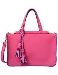 Mellow World Fashion Carol Satchel, Fuchsia, One Size