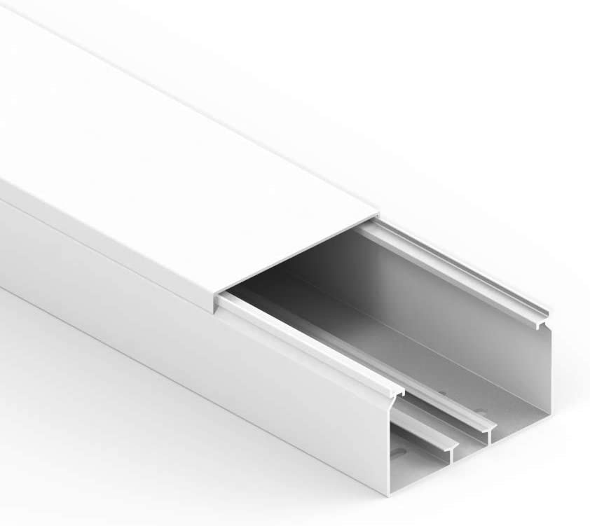 Habengut Kabelkanal Mit Montagelochung Im Boden 60x110 Mm Aus Pvc Farbe Weiß Länge 1 M Baumarkt