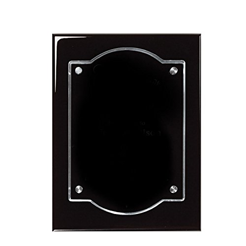- Customizable8 x 10 Black Piano Finish Plaque with Floating Acrylic, includes Personalization