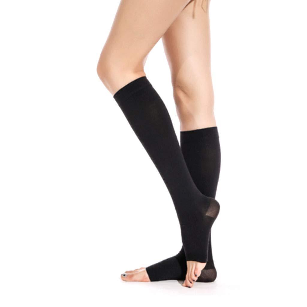 DONGBALA Varicose Stockings Medical Male and Female Nursing Calf Elastic Treatment Type Nurse Anti-Thrombosis varicose Socks,blackB,S