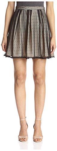 S.H.E. Soul Harmony Energy Women's Flared Mini Skirt, Swiss Dot, M
