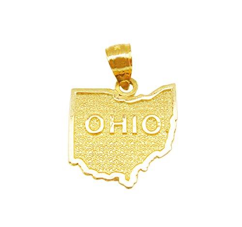 State Map Charm Ohio State Pendant (10k Gold Ohio State Pendant)