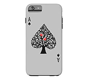 Ace of spade iPhone 6 Plus Heather Grey Tough Phone Case - Design By Humans